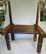 Antique African Tribal Carved Senufo Chair / Stool Mali, Early 20th Century