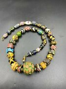 Central Asian Antique Ancient Romanand039s Era Glass Jewelry Old Trade Gabri Beads