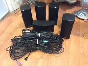 Bose Acoustimass 10 Series V Home Theater Speakers Only W Cables - Black Working