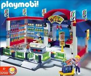 Playmobil 3200 Supermarket Grocery Store Play Set Food Store Set New Sealed