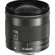 Canon Ultra-wide-angle Zoom Lens Ef-m11-22mm F4-5.6is Stm Mirror-less Dedicated