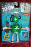 Official Licensed Green Mandm Figural Headset Hands Free Ear Phone Mic Telephone