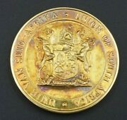 Rare 1939-1945 South Africa 9ct Gold Peace Medal Unie Van Suid Afrika 16g M1135