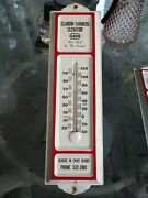 Vintage Metal Thermometer Advertising Clarion Farmers Elevator Coop Agriculture