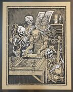 Death And The Screenprinter 2012 Phineas X. Jones Signed Limited Dance Of Death
