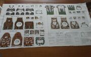 Rare Fabric Book Panel Lois Wilkinson Toys For The Earth Endangered Animals New