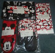 Disney Lot Kitchen Items Oven Mitts Pot Holder Apron Towels Mickey Mouse New