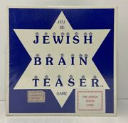 Vintage 1984 Trivia Game The Jewish Brain Teaser History Bible Customs Laws
