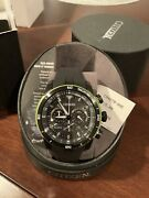 Citizen Eco-drive Ca4278-04e Black And Green Bezel Menandrsquos Watch-free Shipping
