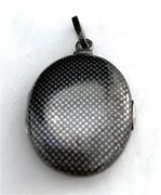 Antique Austrian Niello Sterling Silver Locket Signed G.a.s