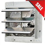 12and039and039 Industrial Exhaust Shutter Fan Variable Speed Wall Mount Fan Garage Shop