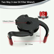 3 Jaw Oil Filter Wrench Tool Removing Car Truck Heavy Duty Oil Filters 55-100mm