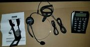 Hands-free Call Center Noise Cancellation Corded Monaural Headset Telephone,