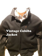 Vintage Cohiba Red Dot Jacket With Leather Sleeves And Embroidered Cohiba Logoand039s