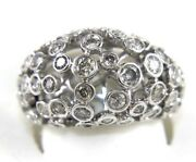 Natural Round Diamond Bubbles Cluster Dome Ring Band 14k White Gold 2.24ct