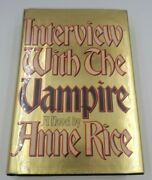 First Edition 1st Printing Interview With The Vampire Signed Anne Rice = Jsa Coa