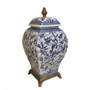 41 Cm Chinoiserie Jar  Blue And White Chinese Porcelain Ginger Jar