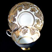 Paragon Andldquoby Appointment To Her Majesty The Queenandrdquo Tea Cup And Saucer Gold On White