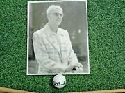 Very Rare Henry Picard Personal Irons And Signed Ball And Photo