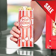 2000 Pack Disposable Red Paper Popcorn Serving Bags Movie Night Supplies