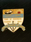 Vintage Collectible Town Of Kincardine Founded 1849 Colorful Metal Pinback