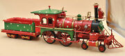 Vintage North Pole Express Train Christmas Magic Toy State Steam Engine Car Gift