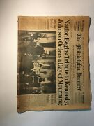 The Philadelphia Inquire Kennedy Burial November 24th 1963 Day Of Mourning