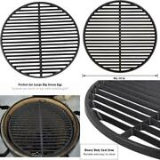 Kamaster Cast Iron Cooking Grids Grates For Large Big Green Egg Round Grill Grat