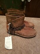 Uggs Karisa Bruno Brown Leather Suede Boots Calf Boots Women Size 6 Nwob