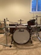 Pearl Reference 5 Piece Drum Set 100 Wine Red With Black Hardware