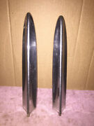 1957 Chevrolet 150 / 210 Rear Quarter Top Of The Fin Molding P/n 3759600 Pair