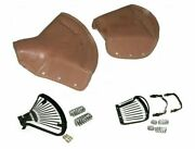 Lycett Tan Leather Complete Front/rear Seat For Royal Enfield Ariel Triumph