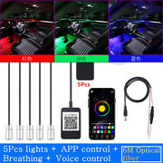 Neon Ambient Light 5 In 1 W/6 Meters Sound Induction Remote Control Car Interior