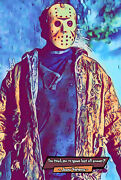 Jason Vorhees Friday The 13th Comic Icons Art Print Available In 4 Formats