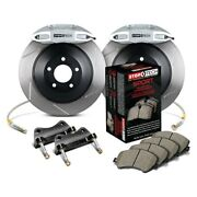 For Volkswagen Jetta 06-12 Stoptech Touring Slotted 1-piece Front Big Brake Kit