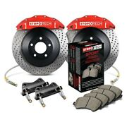 For Dodge Charger 13-16 Stoptech Touring Drilled 1-piece Front Big Brake Kit