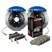 For Dodge Viper 03-17 Stoptech Performance Slotted 2-piece Rear Big Brake Kit