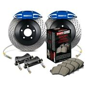 For Volkswagen Gti 15 Stoptech Touring Drilled 1-piece Front Big Brake Kit