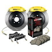 For Dodge Charger 06-10 Stoptech Touring Slotted 1-piece Rear Big Brake Kit