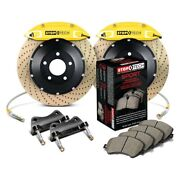 For Honda Civic 02-03 Stoptech Performance Drilled 2-piece Front Big Brake Kit
