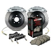 For Ford Mustang 15-17 Stoptech Touring Drilled 1-piece Front Big Brake Kit