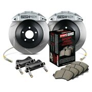 For Ford Mustang 15-17 Stoptech Touring Slotted 1-piece Front Big Brake Kit