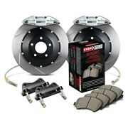 For Honda Accord 06 Stoptech Performance Slotted 2-piece Rear Big Brake Kit