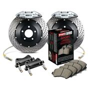 For Honda Accord 06 Stoptech Performance Drilled 2-piece Rear Big Brake Kit