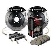 For Bmw 535i 08-10 Stoptech Performance Drilled 2-piece Rear Big Brake Kit