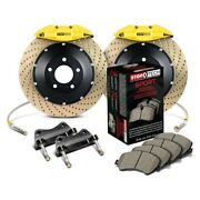 For Bmw 323i 97 Stoptech Performance Drilled 2-piece Rear Big Brake Kit