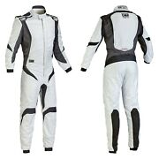 Omp Ia0185208364 One-s1 Series Silver W Black 64 Racing Suit