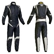 Omp Ia0185207646 One-s1 Series Black W White 46 Racing Suit