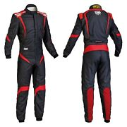 Omp Ia0185207354 One-s1 Series Black W Red 54 Racing Suit