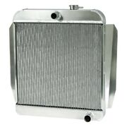 For Chevy Truck 55-57 Afco 80137-p-ss-y Street Rod Performance Radiator W Fan